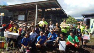 Kamani alongside HYCC Community program participants