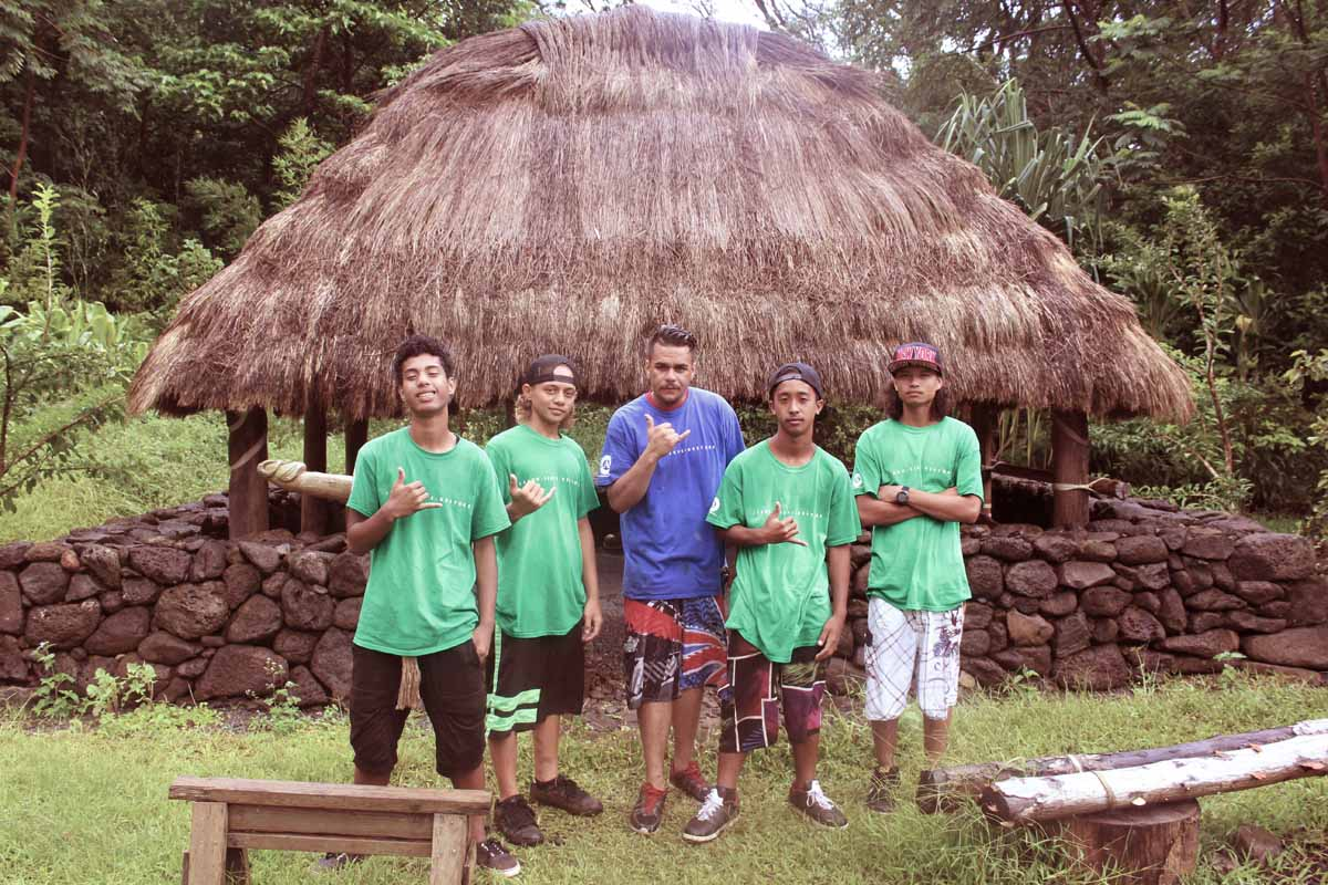 HYCC Community Team Members at Hoʻoulu ʻĀina