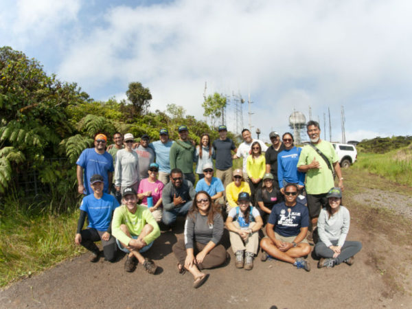 Day 2: Field day at Mt. Ka'ala with staff from the Oahu Army Natural Resources Program and Division of Forestry and Wildlife.