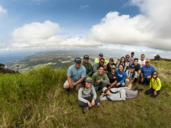 The Fellows and Kupu staff at Mt. Ka'ala.